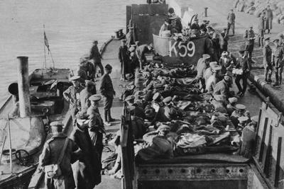 British Casualties at Salonika: the Sick Transferred to Lighters
