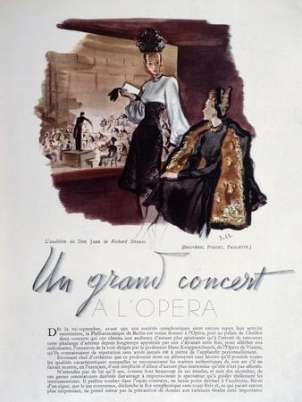 Article from 'Plaisir De France' Describing Two Concerts of 'Don Juan'