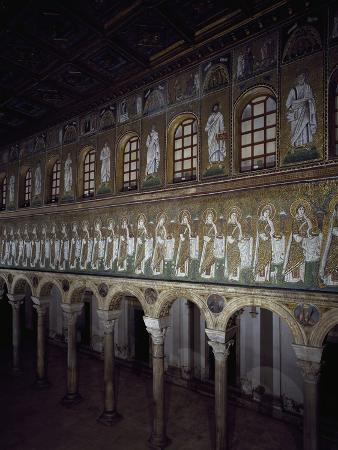 Glimpse of the Central Aisle with Figures of Saints and Prophets