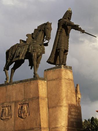 Equestrian Statue of Grand Duke Gediminas, Vilnius, Lithuania