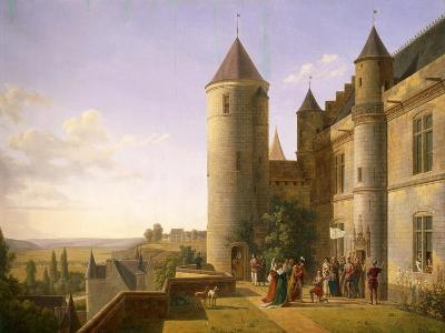 Joan of Arc's Arrival at Castle of Loches to Meet with Charles VII in 1429