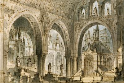 Set Design by Francesco Bagnara for Fourth Scene of Capuleti and Montecchi