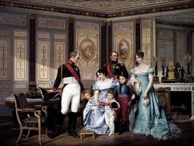 Josephine Beauharnais Receiving Visit from Tsar Alexander I in 1814