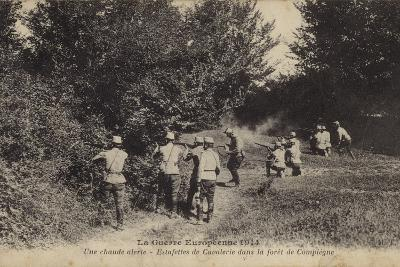 Dismounted French Cavalry Dispatch Riders Firing at the Enemy