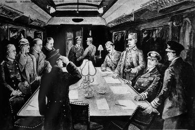 Signing the Armistice That Ended WWI in Railway Coach 2419D