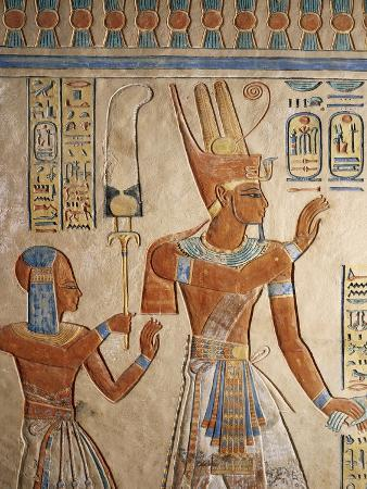 Pharaoh Ramesses III Presenting Her Dead Son to the Gods