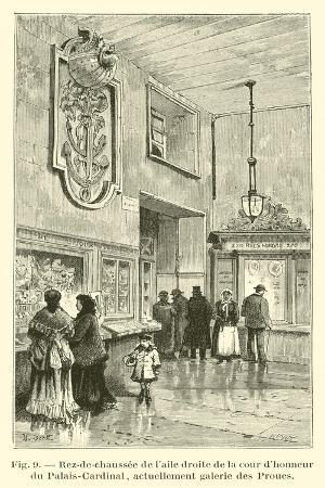Rez-De-Chaussee De L'Aile Droite De La Cour D'Honneur Du Palais-Cardinal