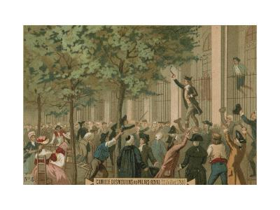 Camille Desmoulins Issues His Call to Arms Outside the Palais Royal