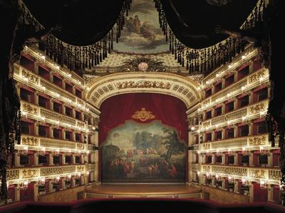 Interior View of the Stage of the San Carlo Theatre in Naples