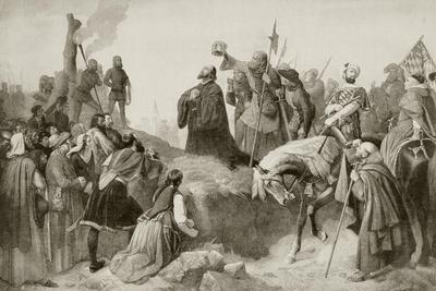 Jan Hus Praying in Front of the Stake Where He Will Be Burned