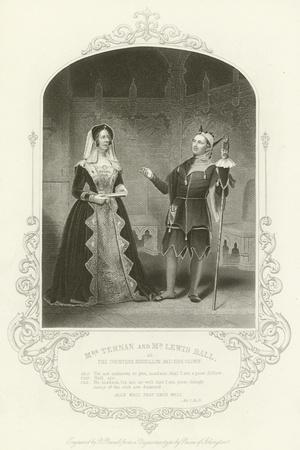 Mrs Ternan and Mr Lewis Ball as the Countess Rousillon and Her Clown