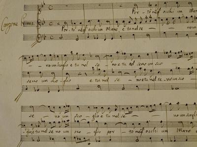 Autograph Sheet Music of Madrigal Songs and Chamber Arias for Two
