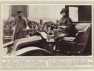 The Duchess of Marlborough's Lady Chauffeur