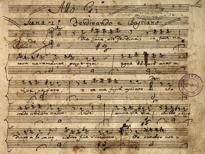 Handwritten Sheet Music for Il Flaminio