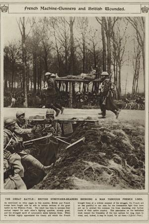 French Machine-Gunners and British Wounded