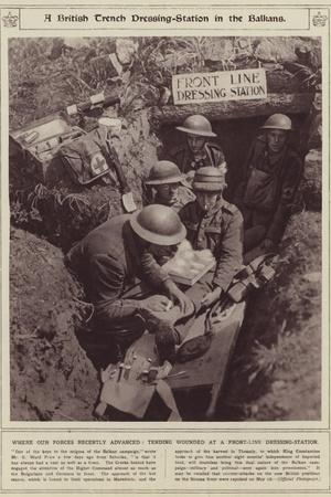 A British Trench Dressing-Station in the Balkans