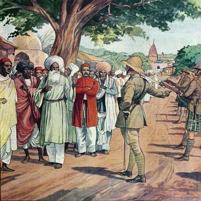 The British Government Arresting Gandhi's Lieutenants