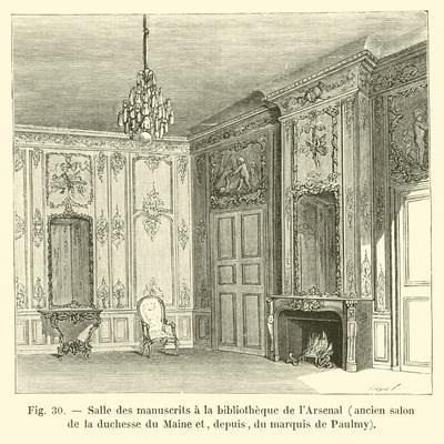 Salle Des Manuscrits a La Bibliotheque De L'Arsenal