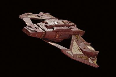 Vidiian Spacecraft Model with Open Wings