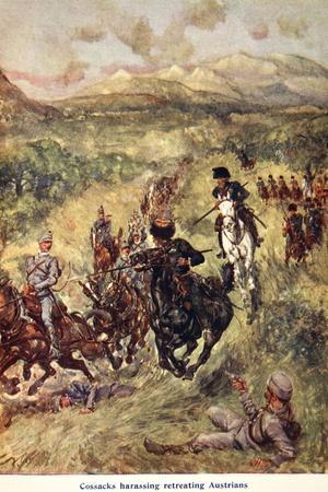 Cossacks Harassing Retreating Austrians'