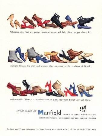 Advert for 'Manfield' Shoes