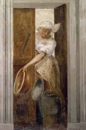 Woman with Basins at Door