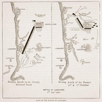 Plan of the Battle of Laswaree