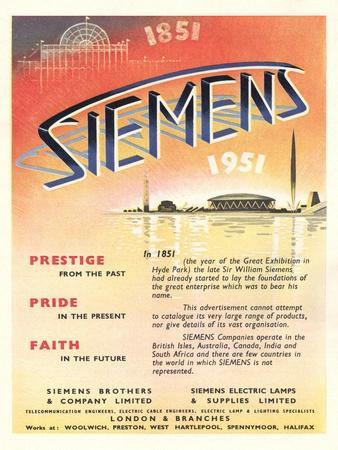 Advert for 'Siemens' Company