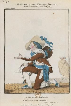 Monsieur Dazincourt in Role of Figaro