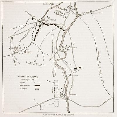 Plan of the Battle of Assaye
