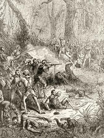 Battle Between Incas and Spaniards