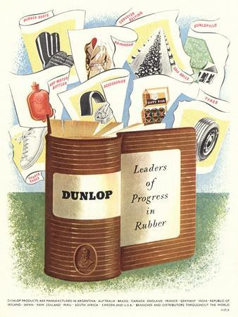 Advert for 'Dunlop' Rubber Company