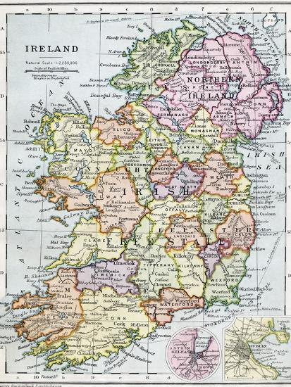 Irish Free State And Northern Ireland Giclee Print At Allposters Com