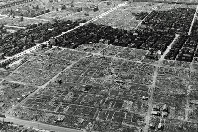 A View of Some of the Damage in Tokyo after an Incendiary Bombing, Japan, 1945