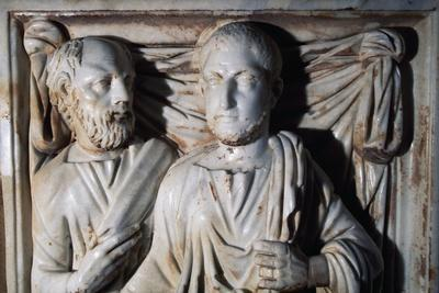 Male Figures, Detail from a Roman Sarcophagus Preserved in the Alcazar of Cordoba