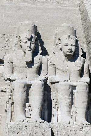 Two of Four Colossal Statues from Facade of Great Temple of Ramses II, Abu Simbel