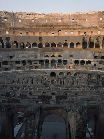 Detail from Interior of Short Axis of Colosseum also known as Flavian Amphitheatre