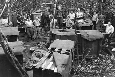 Alcohol, Tobacco and Firearms Revenue Agents Discover an Illegal Liquor Still, 1939