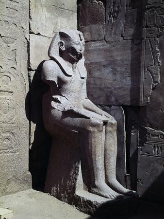 Statue of Thutmose III in Ceremonial Attire, Temple of Amun, Karnak Temple Complex