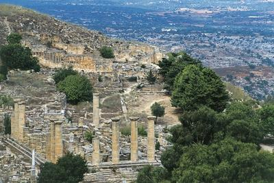 View of Sanctuary of Apollo with Temple of Apollo in Foreground, Greco-Roman City of Cyrene