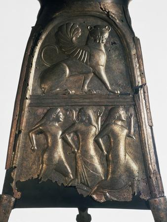 Decorated Bronze Plate, Outer Covering from a Wagon. Artifact from Castel San Marino Near Perugia