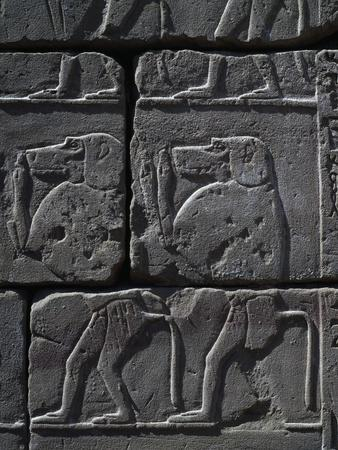 Dog-Headed Figures, Detail of Frieze, Kiosk of Taharqa Temple of Amun, Karnak Temple Complex