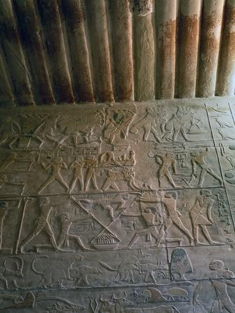 Eastern Wall with Relief and Ceiling, Chapel of Mastaba of Ptahhotep, Saqqara