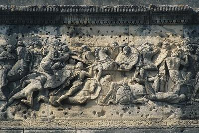 Battle Scene Between the Gauls and Romans, Relief from the Arch of Triumph in Orange