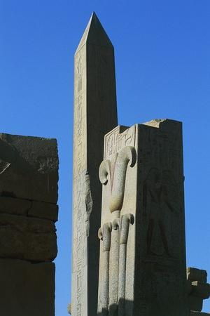 Obelisk, Great Hypostyle Hall, Great Temple of Amun, Karnak Temple Complex, Luxor, Thebes