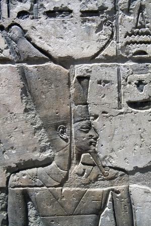 Relief of Pharaoh, Chapels of Divine Adoratrices, Temple of Ramesses Iii, Medinet Habu, Thebes