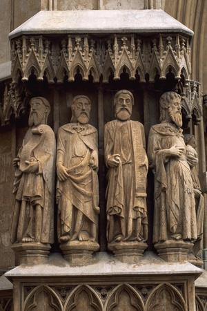 Statues of the Apostles, 1278, Detail from the Door of Tarragona Cathedral