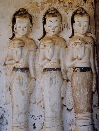 Unrestored Shrines at Nyaung Ohak Monastery, Inle Lake, Shan State, Myanmar