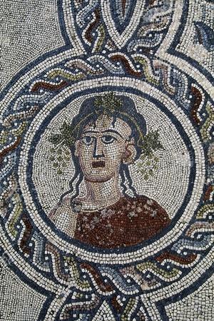 Depiction of Autumn, Detail of Mosaic of Four Seasons, Roman City of Volubilis