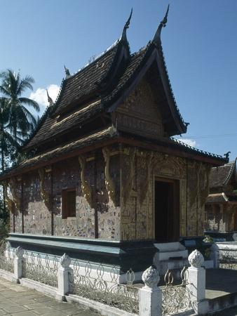 Interior of the Wat Xieng Thong Monastery, or Monastery of the Golden City, 1560, Luang Prabang